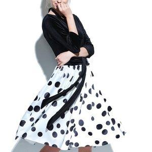 Dresses & Skirts - Black & White Polka Dot Vintage Style Retro Dress